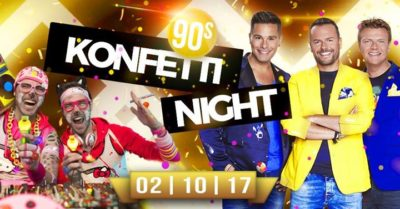 90s Konfetti Night mit Caught In The Act - 02.10.2017