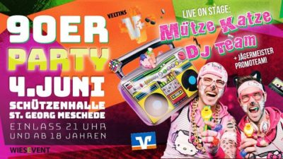 Night Up your Life – 90er Party an Pfingsten ! - 04.06.2017