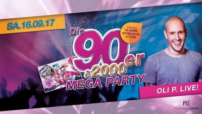 Die 90er & 2000er Mega Party - 16.09.2017