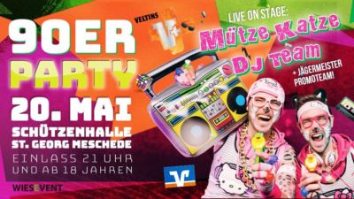 90er & 00er Party Meschede - 20.05.2018