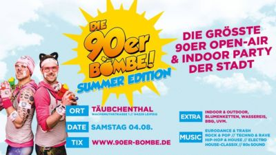Die 90er Bombe - Summer Edition - 04.08.2018