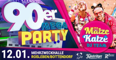 Back to the 90´s mit Mütze Katze DJ Team - 12.01.2019