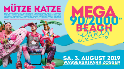 MEGA 90/2000er Beachparty ★ WSP Zossen ★ - 03.08.2019
