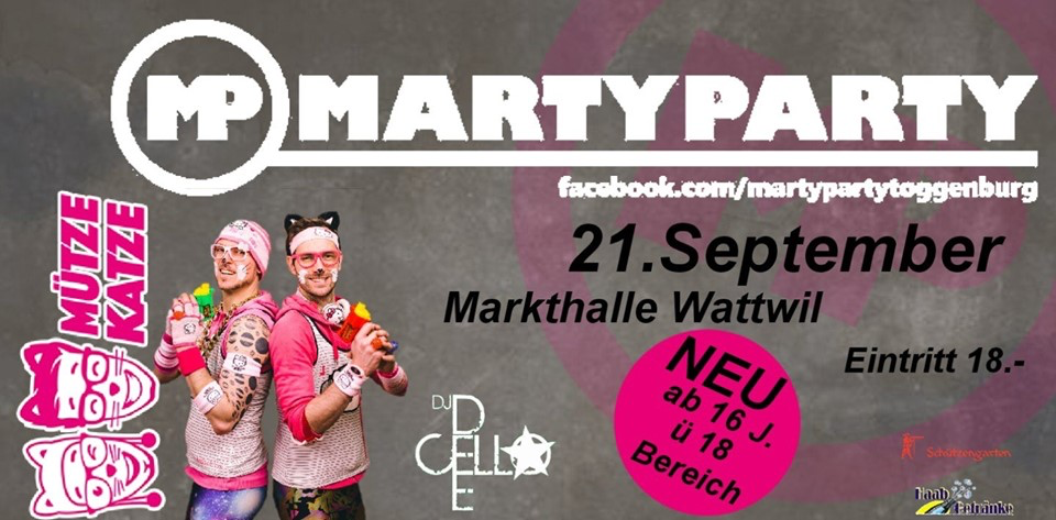 MartyParty 21. September 2019 – 21.09.2019 – 9630 Wattwil - 21.09.2019