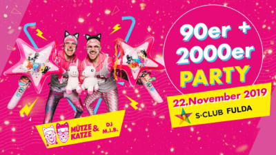 90er and 2000er Party | Mütze Katze DJ-Team - 22.11.2019